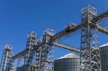 Towers of grain drying enterprise