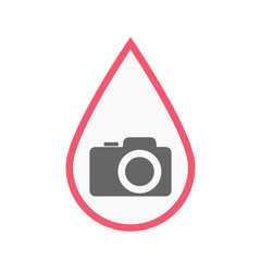 Isolated blood drop with a photo camera