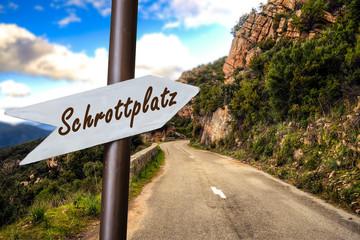 Schild 253 - Schrottplatz