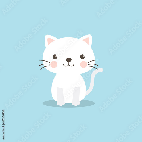 Funny Cat Vector Illustration For Baby Shower Invitation Birthday Party Postcard Greeting Card And ECards