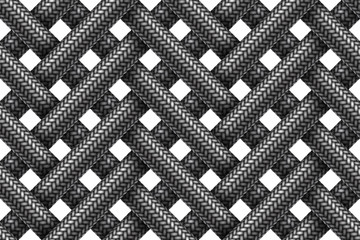 Vector seamless pattern of wicker fabric braided cords.