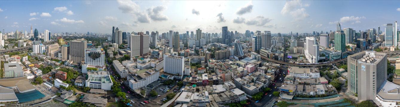 Bangkok City 360° panorama, Nana and Sukhumvit Road