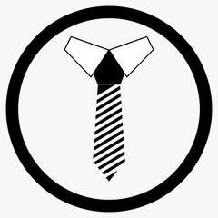 Necktie icon black white