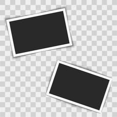 Instant photo frames on transparent background. Vector illustration