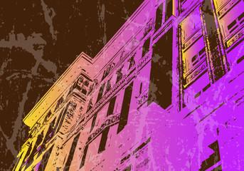 Urban Grunge Building Texture Background