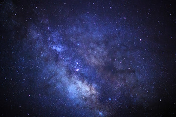 close up milky way galaxy with stars and space dust in the universe at phitsanulok in thailand.