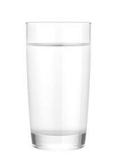 glass of water isolated on white background, 3D rendering