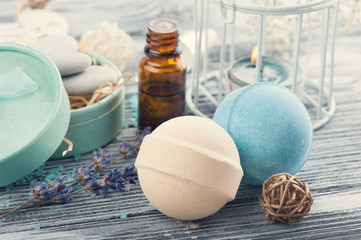 SPA composition with essential oil, bath bomb