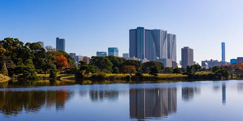 東京の四季、旧芝離宮恩賜庭園の秋