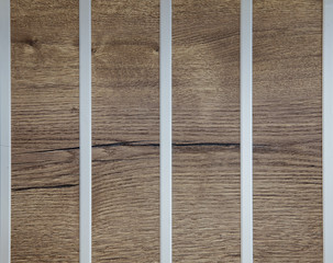 wooden texture with metal strips