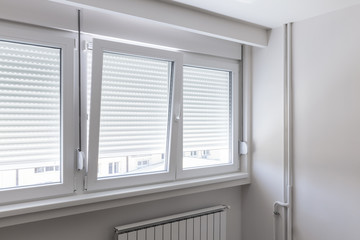 PVC window in room