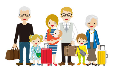 Traveling Multi-Generation family - Caucasian