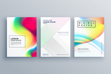 abstract colorful poster design concept template in minimal style