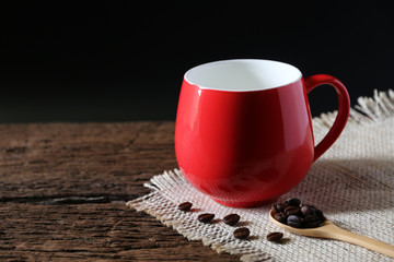Coffee Cup Red Shot in the studio
