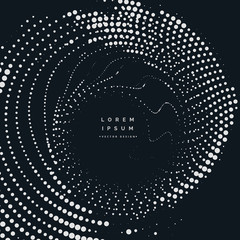 radial halftone dots vector background