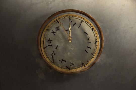 Alte Uhr zerfällt