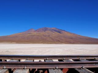 train tracks altiplano bolivia
