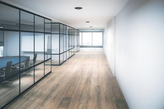 Contemporary office hallway