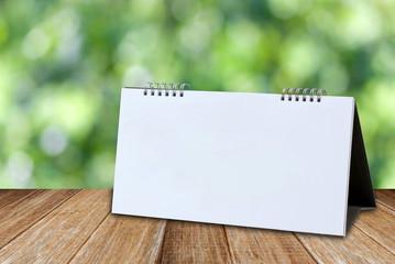 White Blank desk calendar mockup template