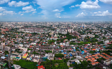 bangkok city in Aerial view