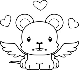 Cartoon Angry Cupid Mouse