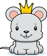 Cartoon Smiling Prince Mouse