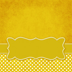 Yellow and white polka dot square border with copy space