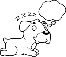 Cartoon Boxer Dreaming