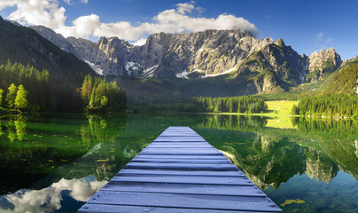 Wall Mural - Mountain lake in the Julian Alps in Italy
