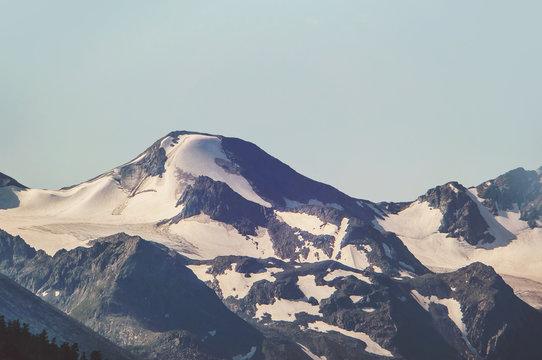 Alpine landscape in dull colours.