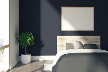Black bedroom, poster