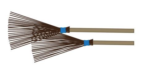 Broom Vector Set