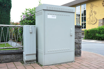 Schaltstation für das Interkommunale Breitbandnetz IKBIT zur Datenübermittlung