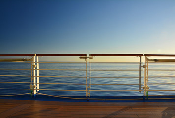 Cruise ship sea view