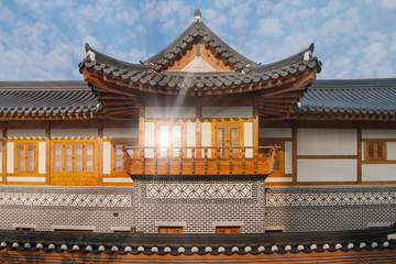 Korean Traditional House at Songdo Central Park, South Korea