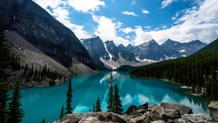 Beautiful Landscape, Blue Lake and Reflection Landscape