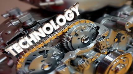 Technology Engine Motor Automotive Innovation 3d Illustration