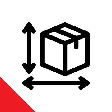 Illustration icon for measurement of goods dimension