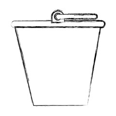sand bucket isolated icon vector illustration design
