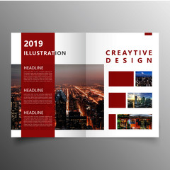 red creative brochure template