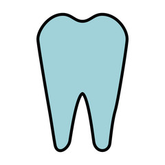 tooth icon over white background vector illustration