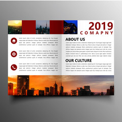 beautiful brochure template design