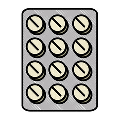 medicine pills icon over white background vector illustration