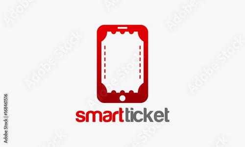 Smart Ticket Logo template designs vector illustration, Simple ...