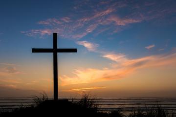 Dusk Sunset Salvation Cross