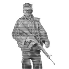 Soldier engrave style-Vector Illustration