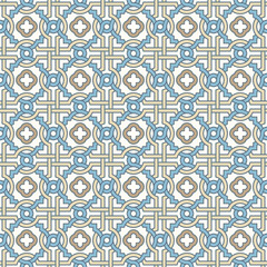 Tangled Pattern with Quatrefoils, Edvardian style, seamless vector pattern