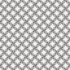 Retro pattern - lines, circles and diamond stars. White and light grey background.