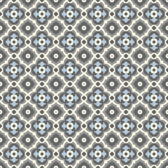 Retro Floor Tiles, Edvardian style, seamless vector patern
