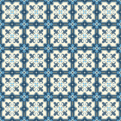 Retro Floor Tiles, Edvardian style, seamless vector patern